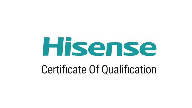 certificazione hisense