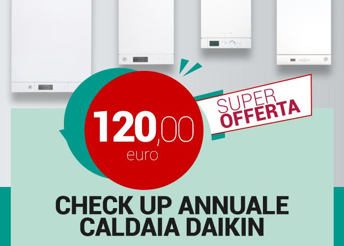 promozione checkup annuale caldaia Daikin Lecce Nord e Brindisi