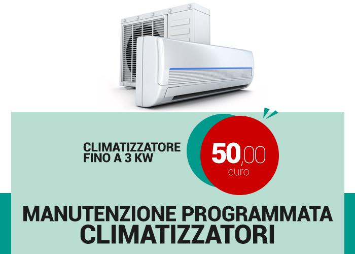 promozione manutenzione programmata climatizzatori fino a 3 kw lecce e brindisi 50 euro